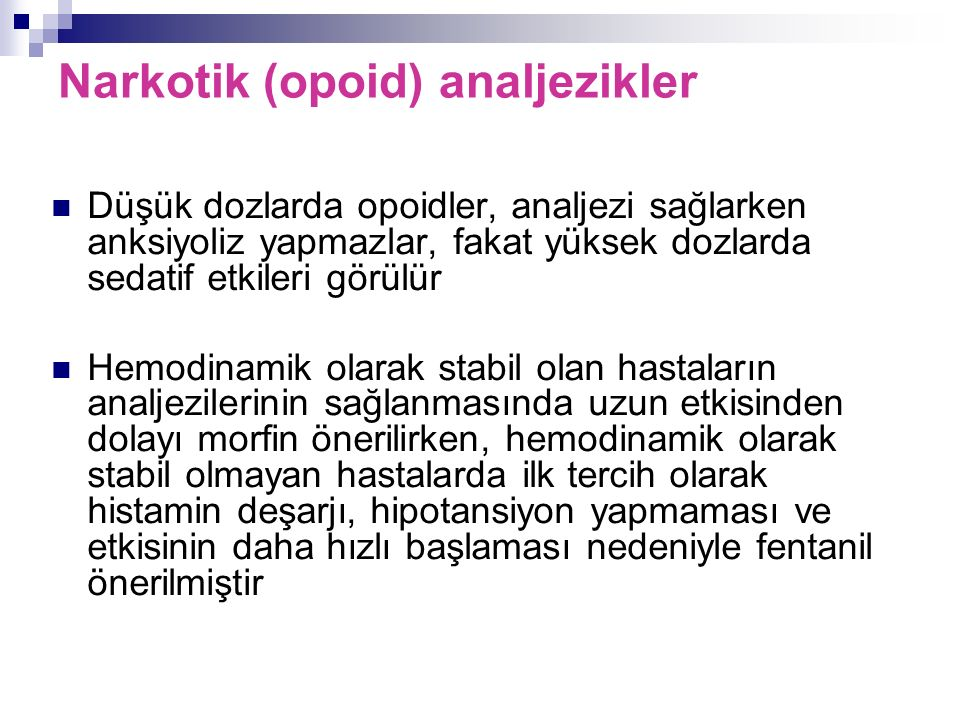 Narkotik (opoid) analjezikler