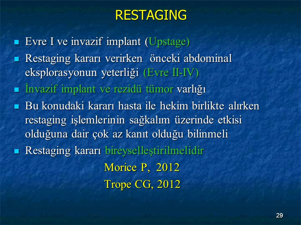 RESTAGING Evre I ve invazif implant (Upstage)