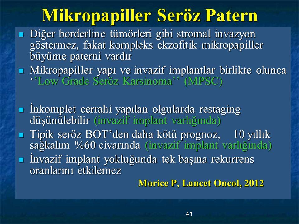 Mikropapiller Seröz Patern