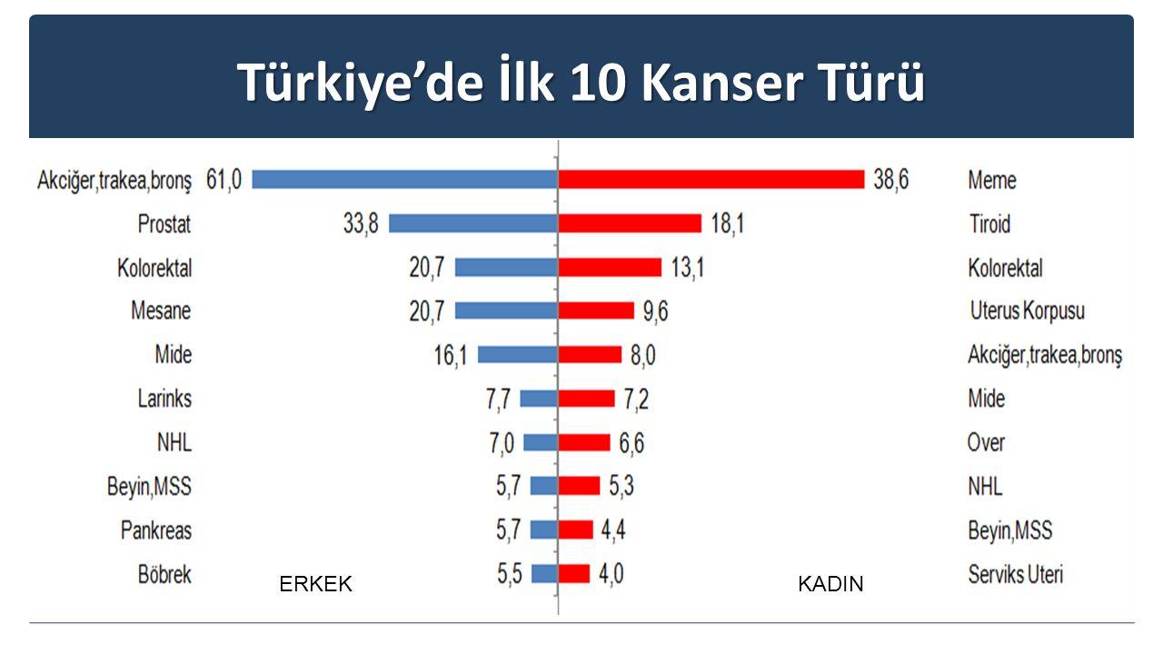 Türkiye'de İlk 10 Kanser Türü