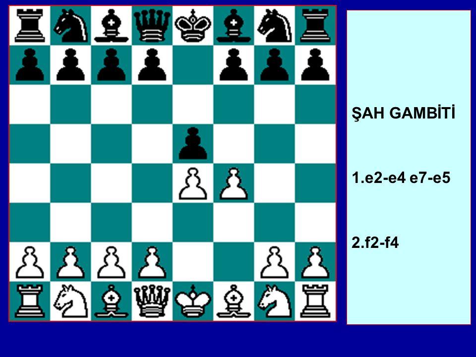 ŞAH GAMBİTİ 1.e2-e4 e7-e5 2.f2-f4