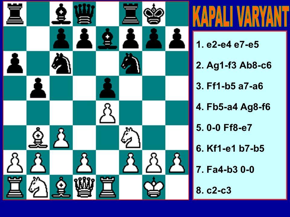 KAPALI VARYANT 1. e2-e4 e7-e5 2. Ag1-f3 Ab8-c6 3.