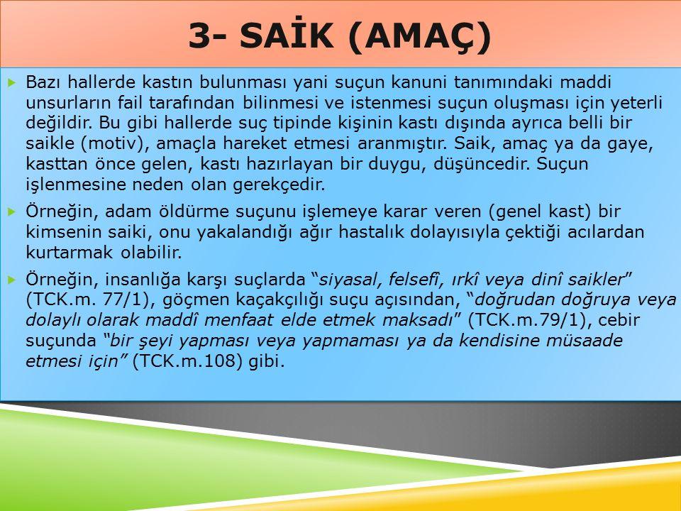 3- SAİK (AMAÇ)