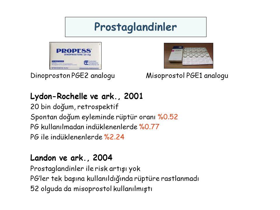 Prostaglandinler Lydon-Rochelle ve ark., 2001 Landon ve ark., 2004