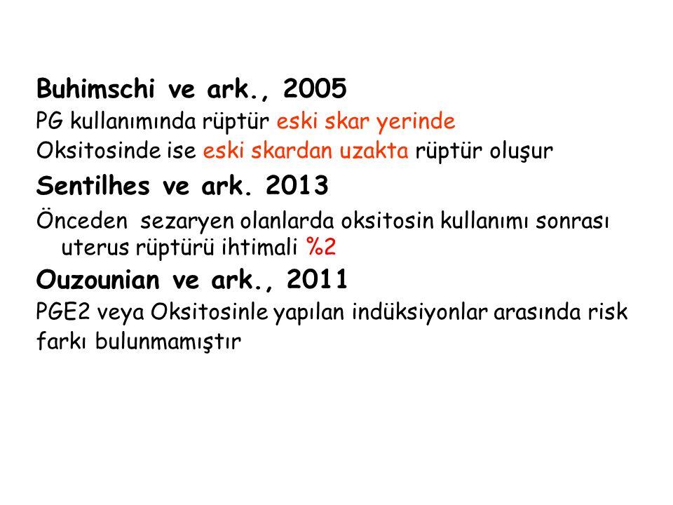 Buhimschi ve ark., 2005 Sentilhes ve ark. 2013 Ouzounian ve ark., 2011