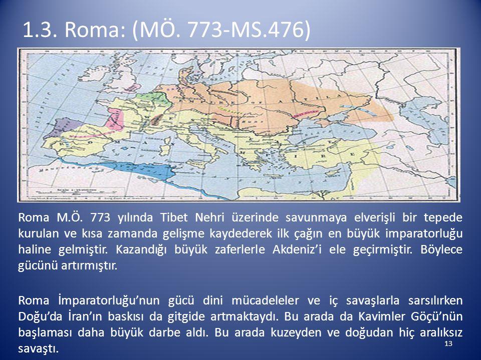 1.3. Roma: (MÖ. 773-MS.476)