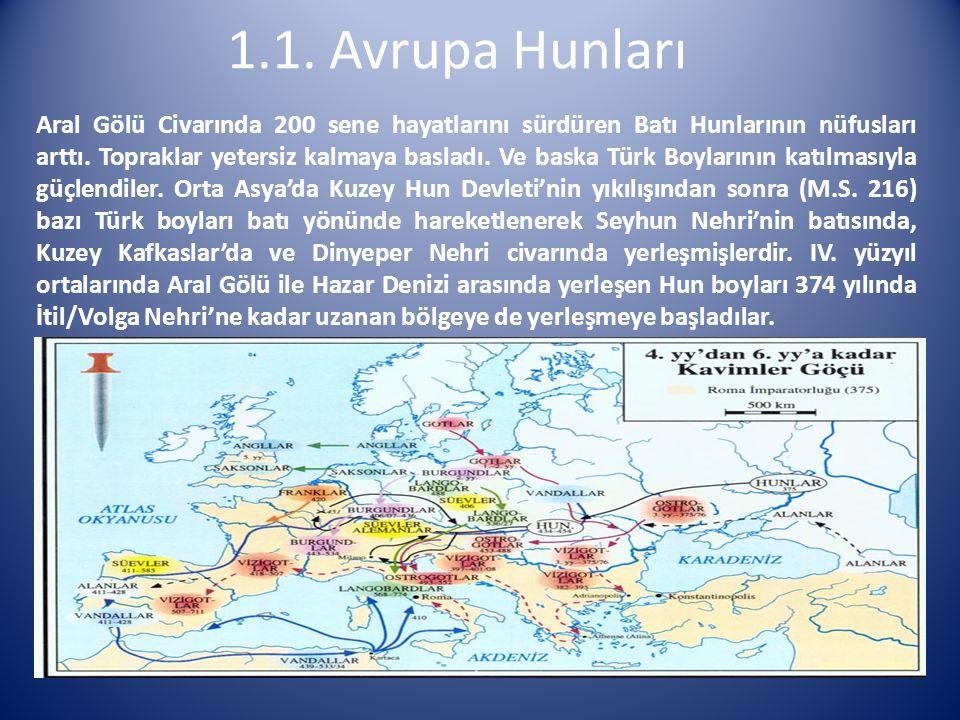 1.1. Avrupa Hunları
