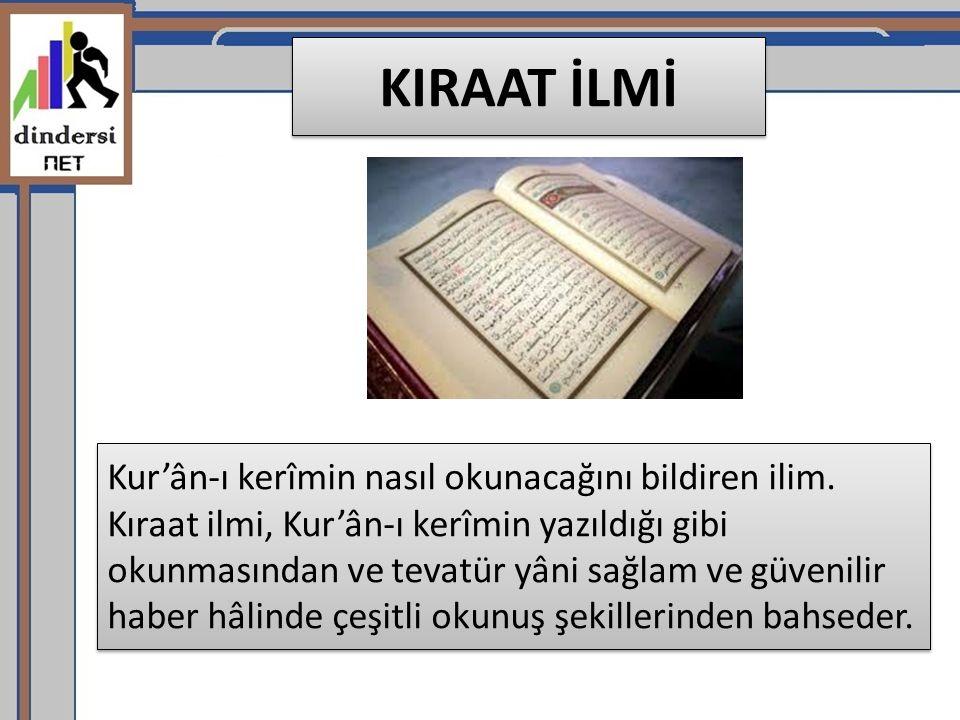 KIRAAT İLMİ