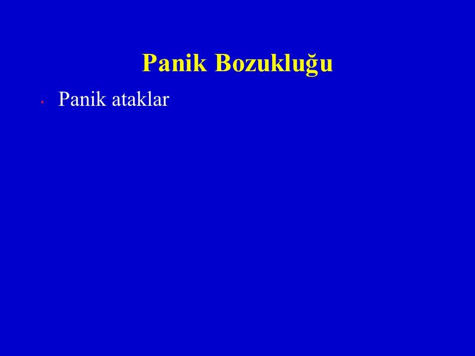 Panik Bozukluğu Panik ataklar