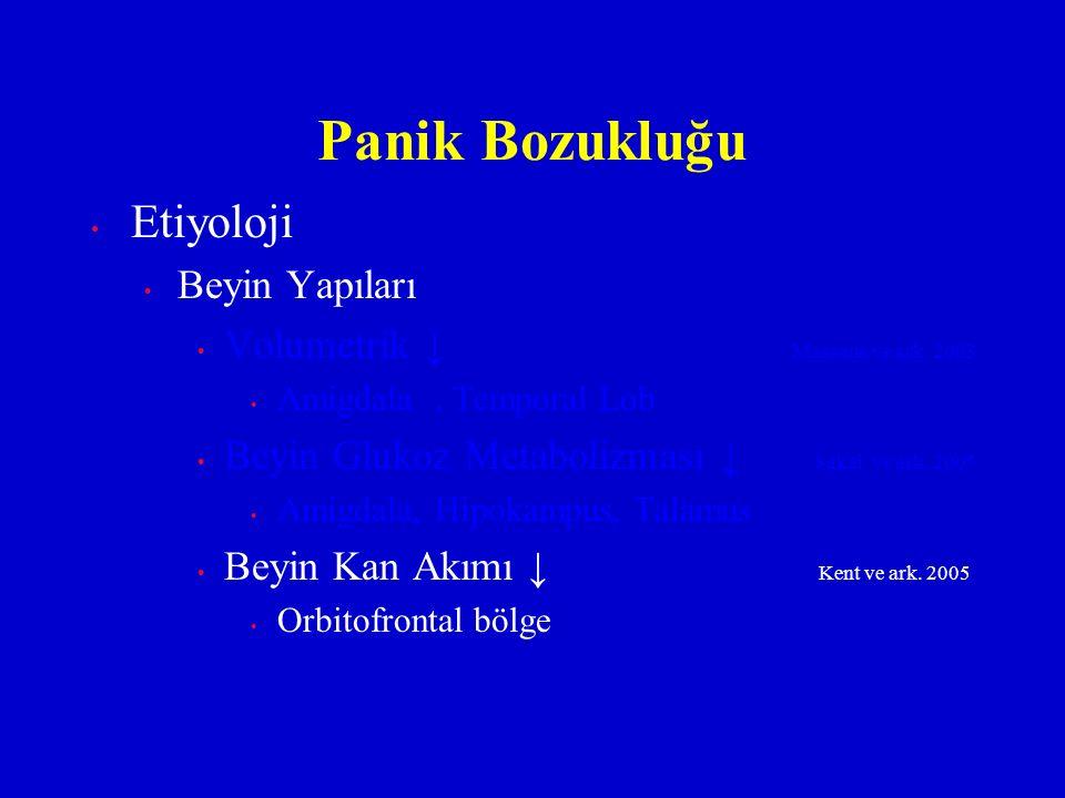 Panik Bozukluğu Etiyoloji Beyin Yapıları