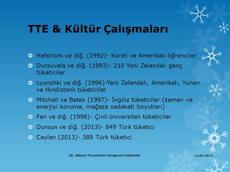 TTE & Kültür Çalışmaları