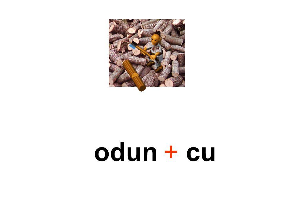 + odun + cu