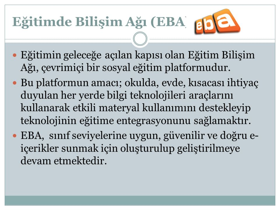 Eğitimde Bilişim Ağı (EBA)