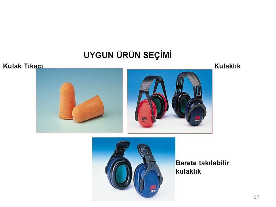 UYGUN ÜRÜN SEÇİMİ Kulak Tıkacı Kulaklık Barete takılabilir kulaklık