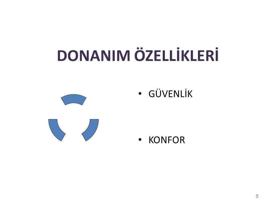 DONANIM ÖZELLİKLERİ GÜVENLİK KONFOR