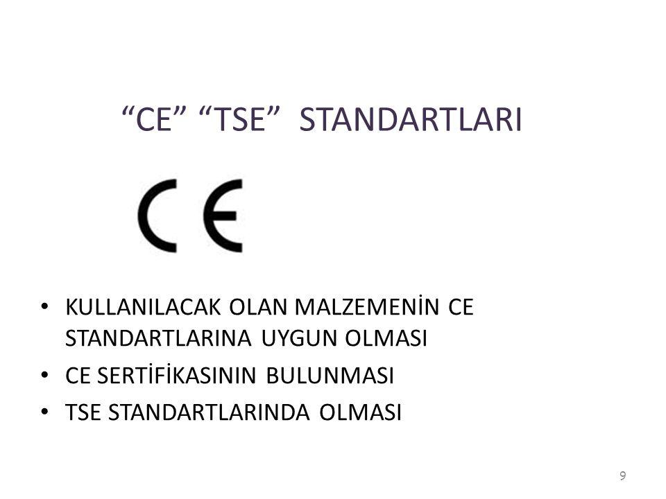 CE TSE STANDARTLARI