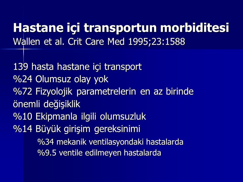 Hastane içi transportun morbiditesi