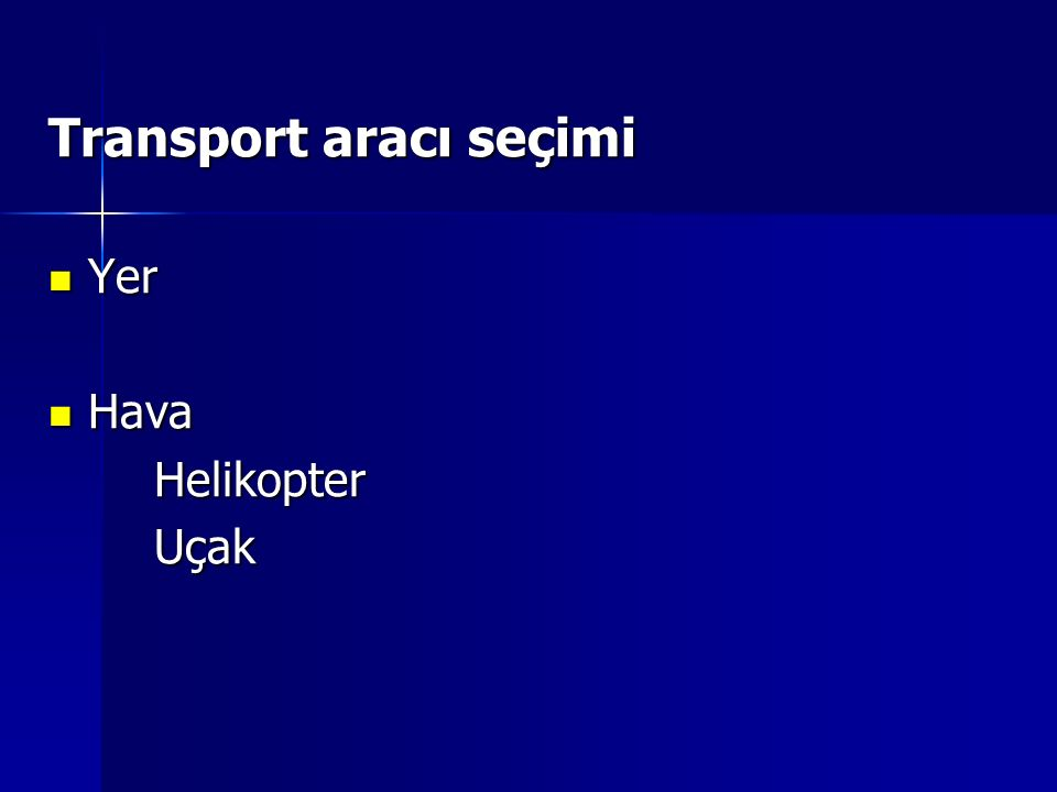 Transport aracı seçimi