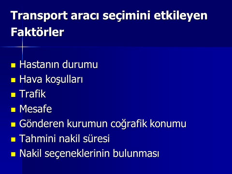Transport aracı seçimini etkileyen Faktörler