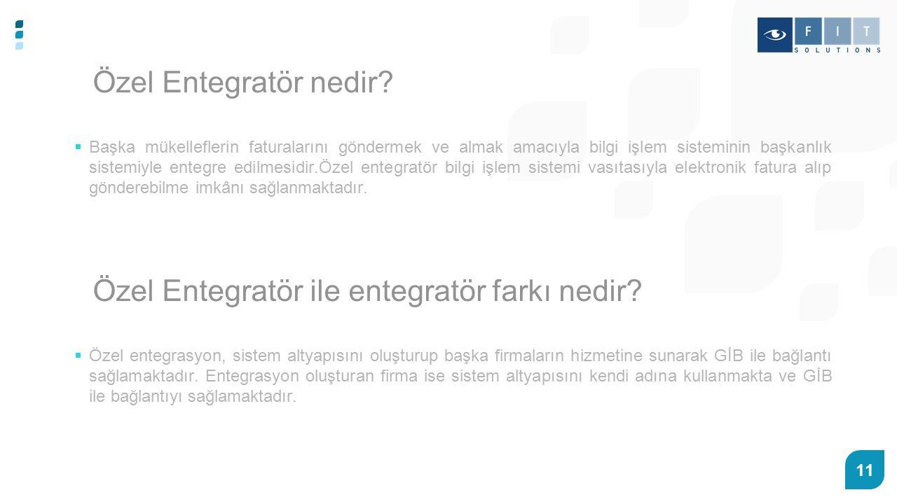 Özel Entegratör ile entegratör farkı nedir