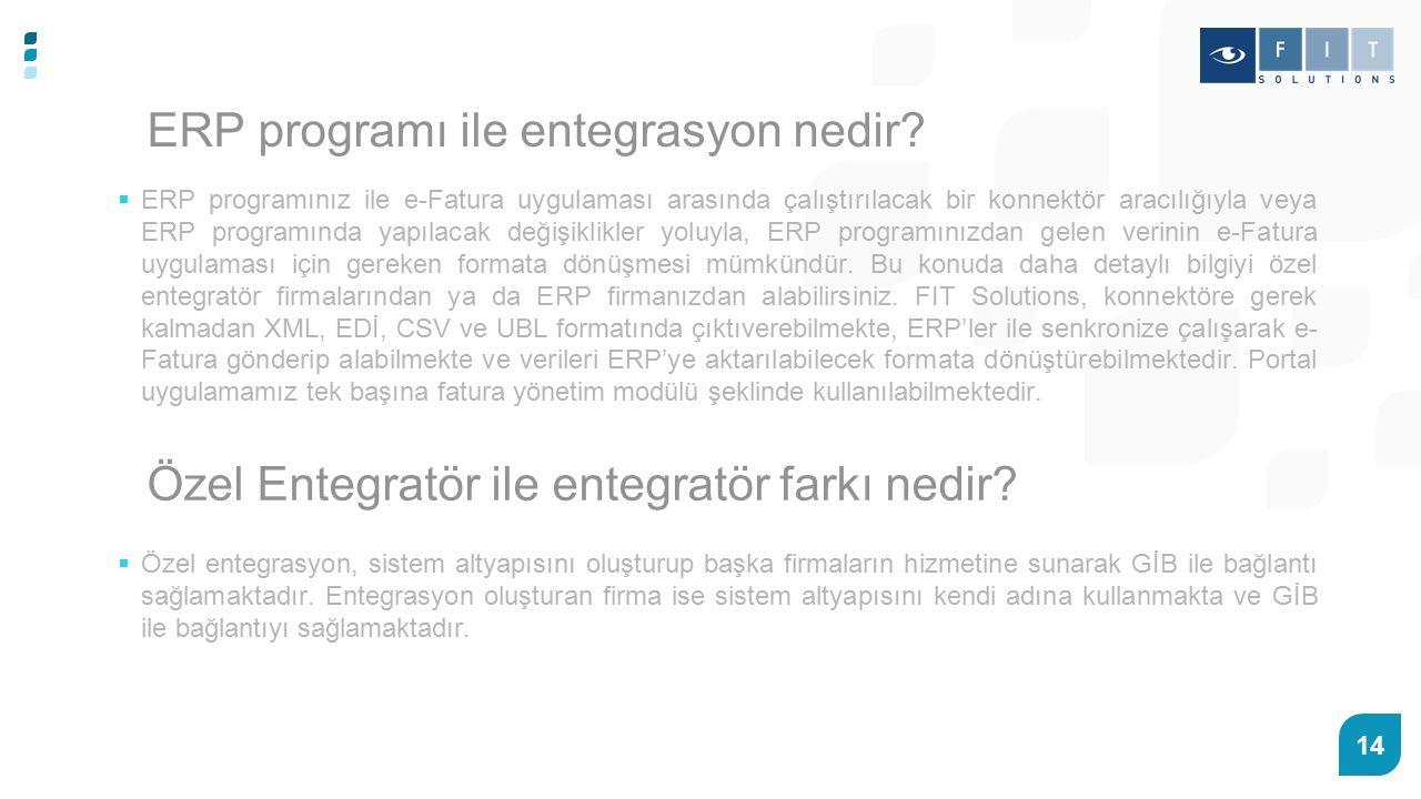 ERP programı ile entegrasyon nedir