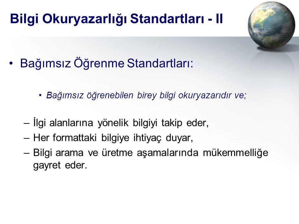 Bilgi Okuryazarlığı Standartları - II