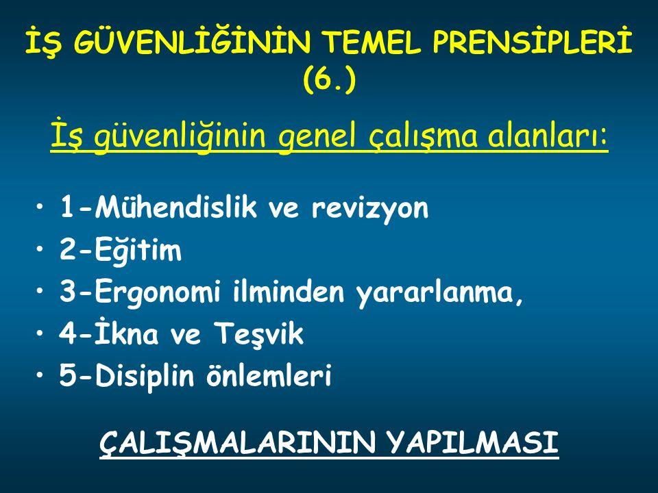 İŞ GÜVENLİĞİNİN TEMEL PRENSİPLERİ (6.) ÇALIŞMALARININ YAPILMASI