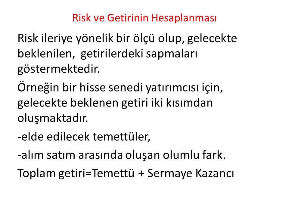 Risk ve Getirinin Hesaplanması