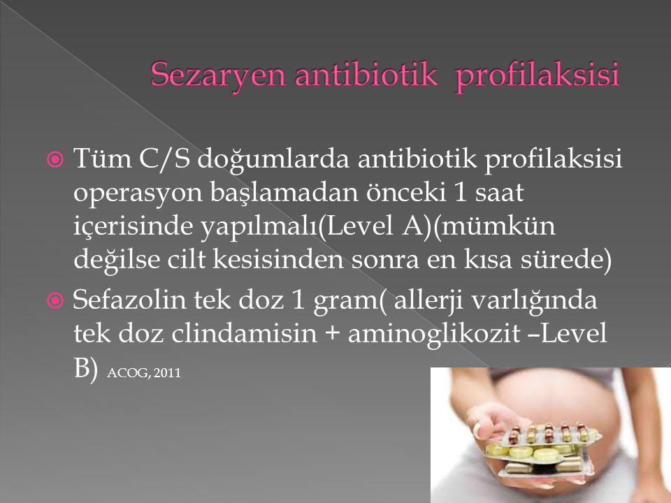 Sezaryen antibiotik profilaksisi