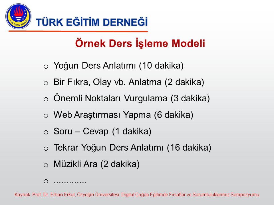 Örnek Ders İşleme Modeli
