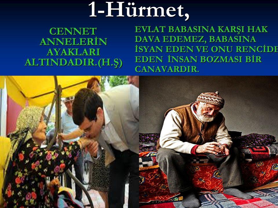 CENNET ANNELERİN AYAKLARI ALTINDADIR.(H.Ş)