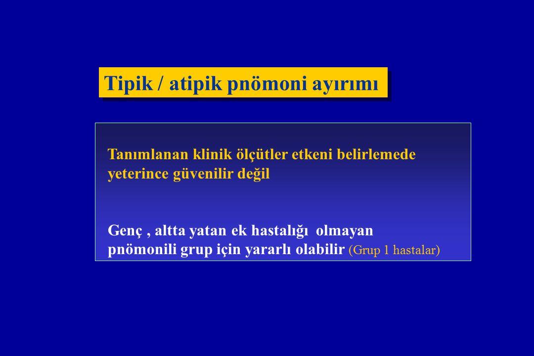 Tipik / atipik pnömoni ayırımı
