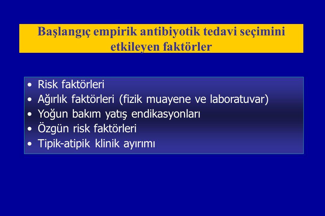 Başlangıç empirik antibiyotik tedavi seçimini etkileyen faktörler
