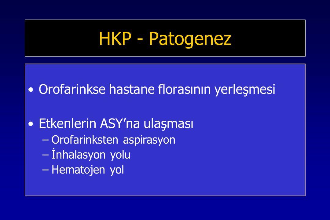 HKP - Patogenez Orofarinkse hastane florasının yerleşmesi