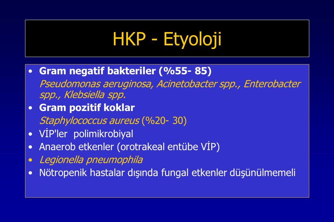 HKP - Etyoloji Gram negatif bakteriler (%55- 85)