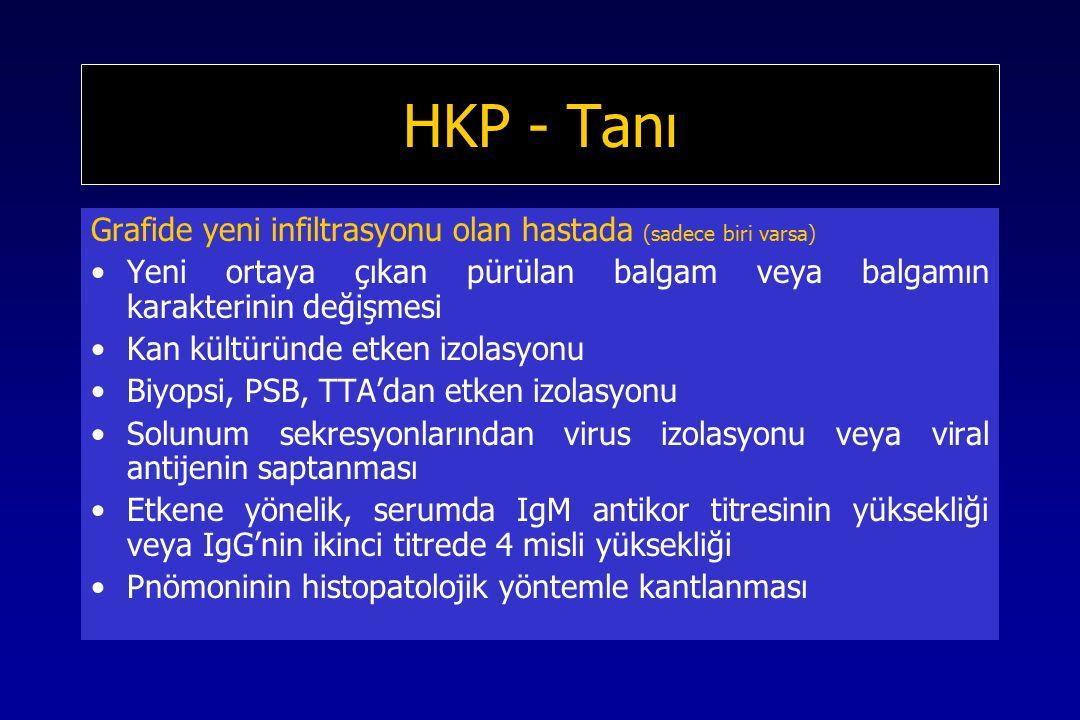 HKP - Tanı Grafide yeni infiltrasyonu olan hastada (sadece biri varsa)