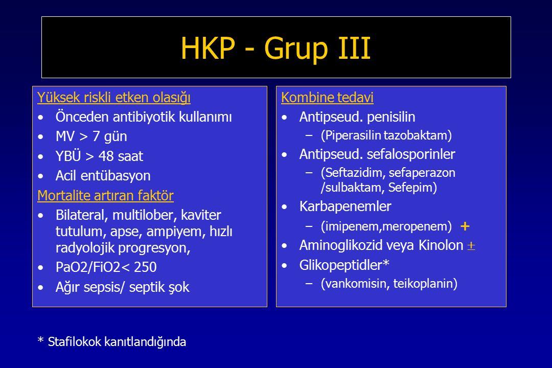 HKP - Grup III Yüksek riskli etken olasığı