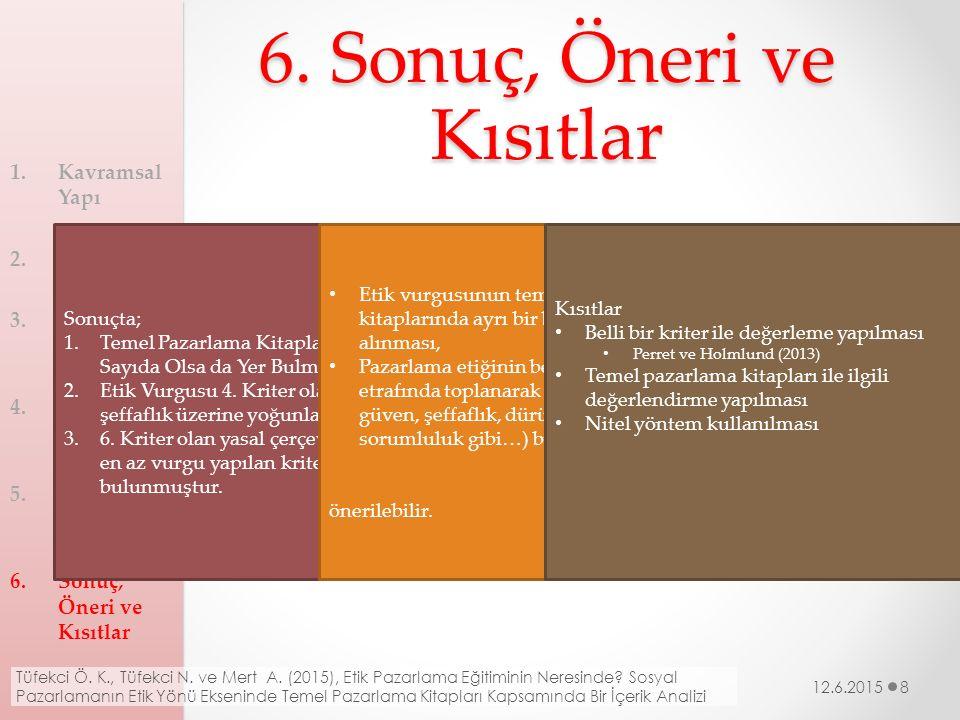 6. Sonuç, Öneri ve Kısıtlar
