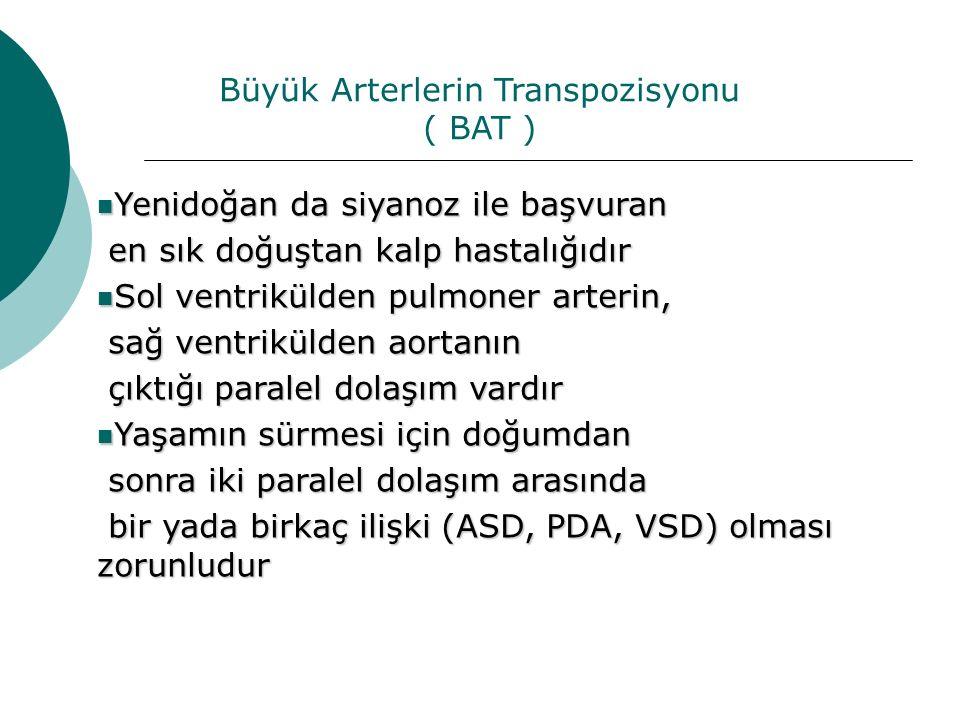 Büyük Arterlerin Transpozisyonu ( BAT )