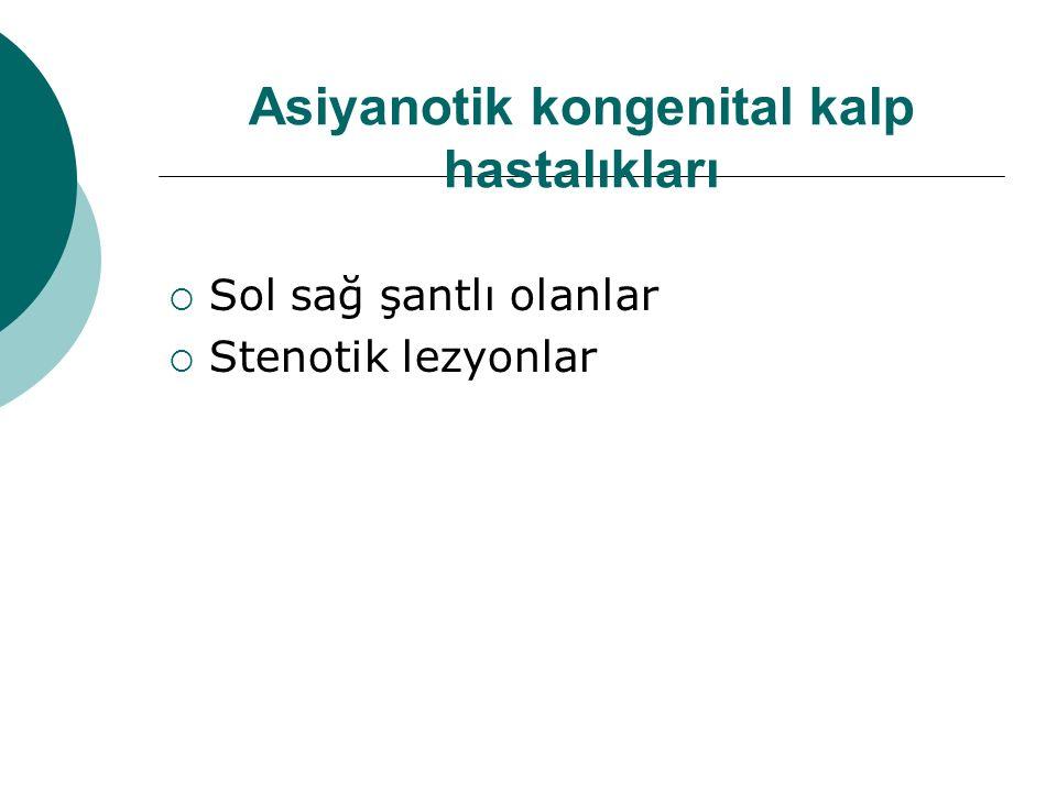 Asiyanotik kongenital kalp hastalıkları