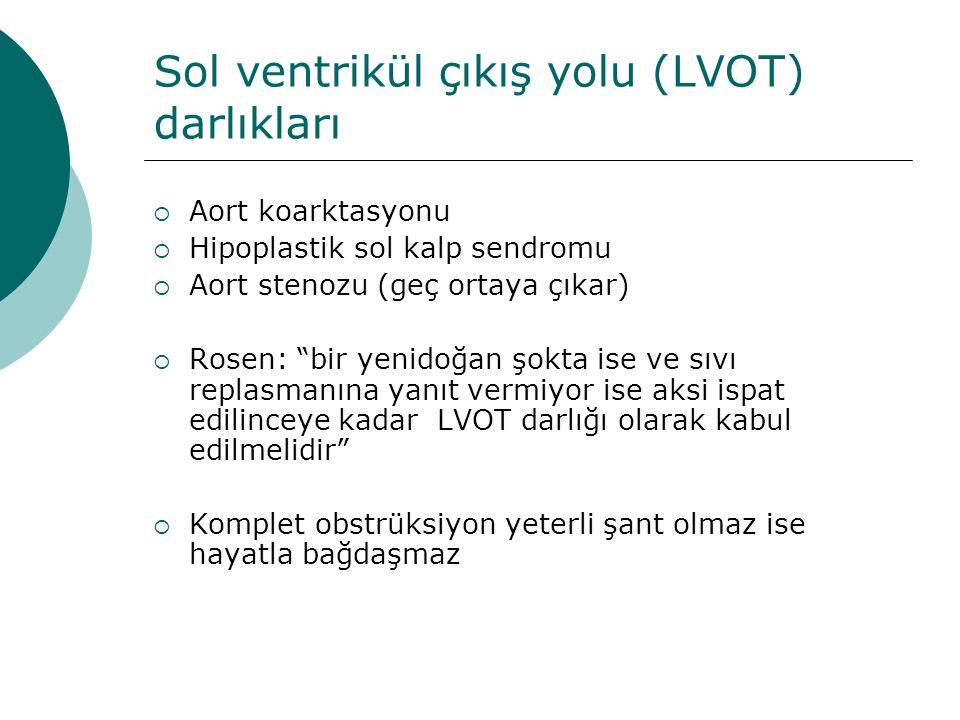 Sol ventrikül çıkış yolu (LVOT) darlıkları