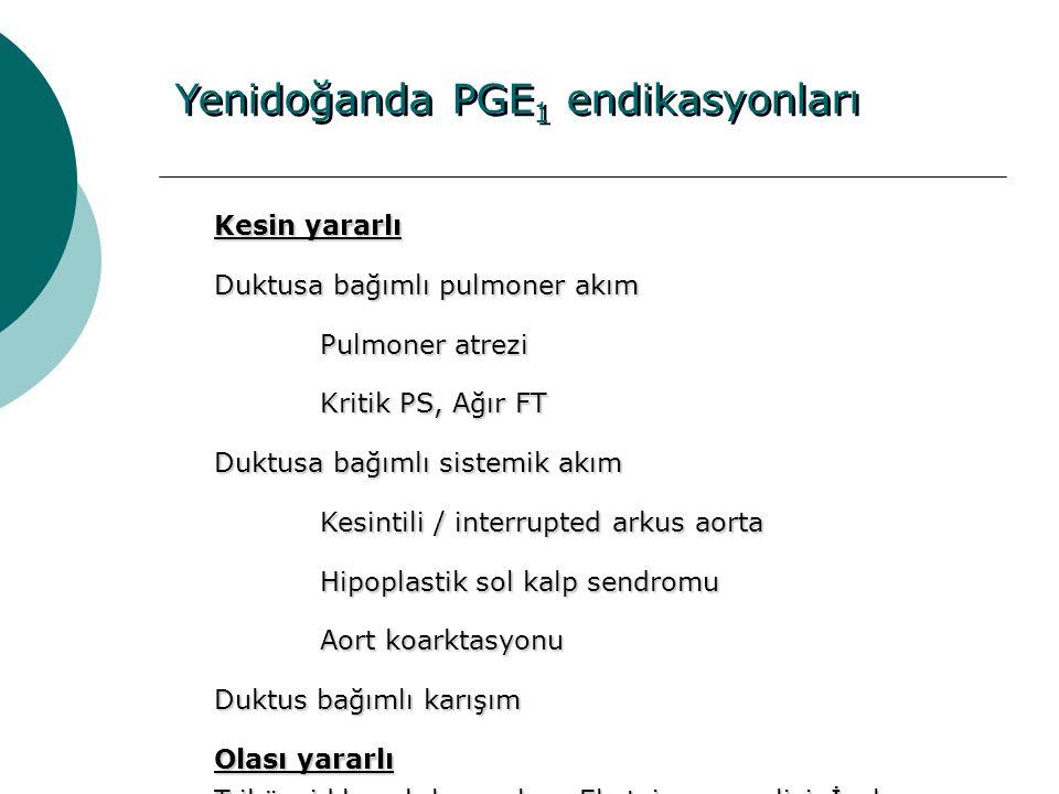 Yenidoğanda PGE1 endikasyonları
