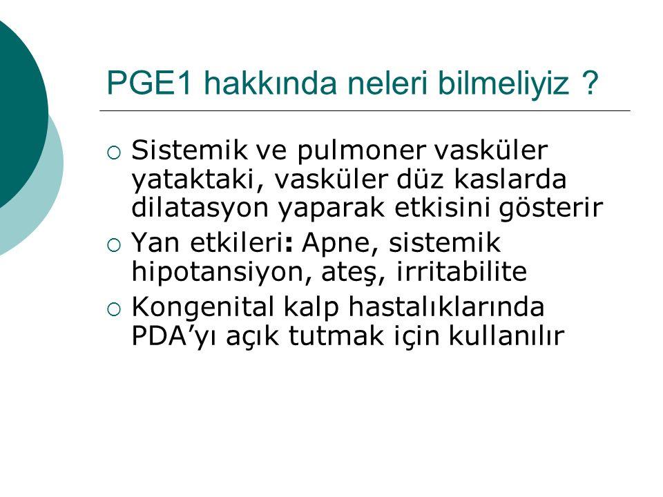 PGE1 hakkında neleri bilmeliyiz
