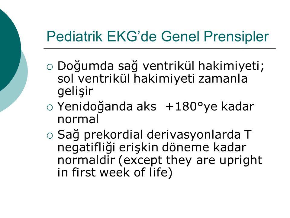Pediatrik EKG'de Genel Prensipler