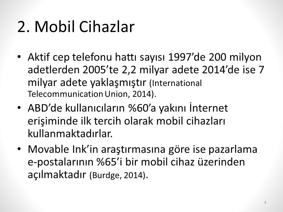 2. Mobil Cihazlar