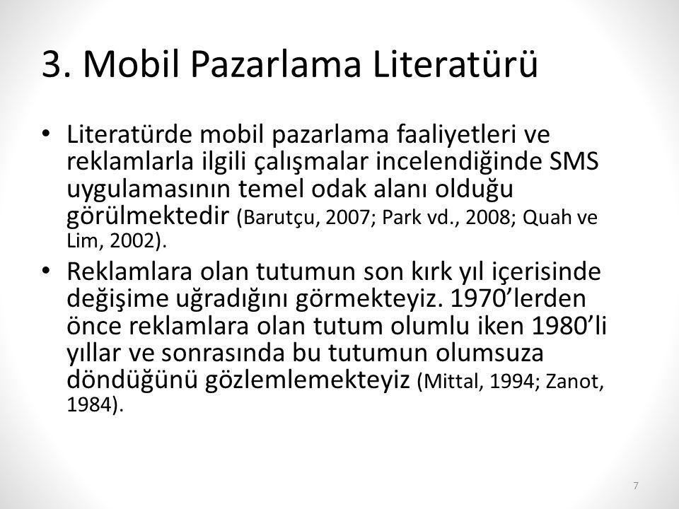 3. Mobil Pazarlama Literatürü
