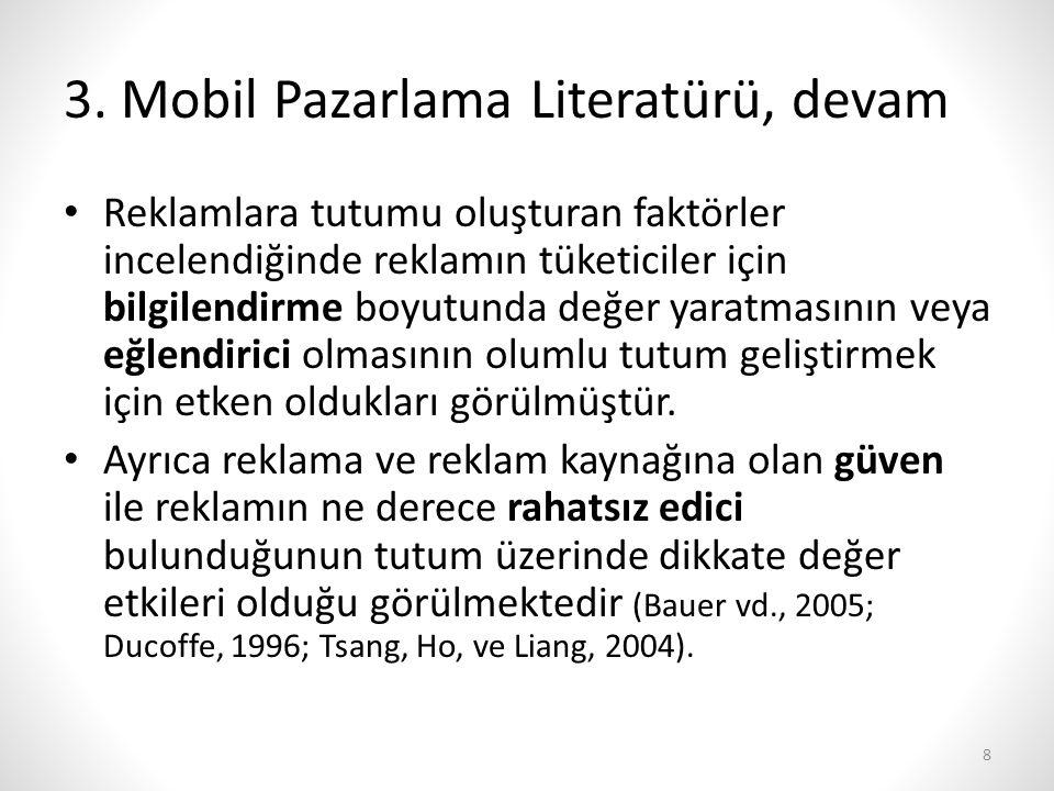 3. Mobil Pazarlama Literatürü, devam