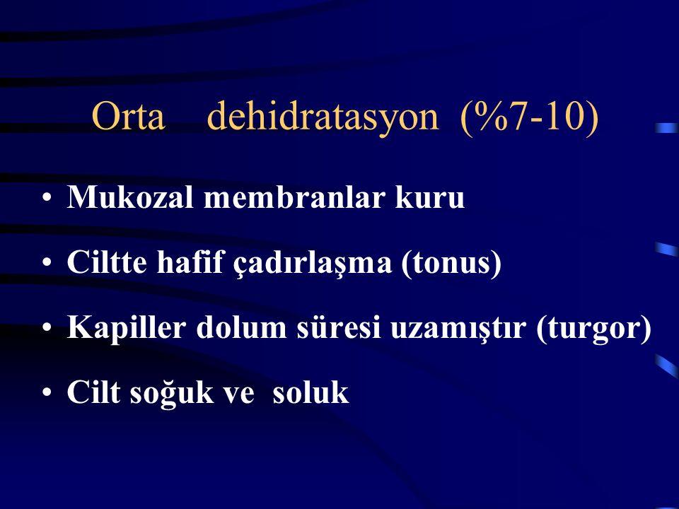 Orta dehidratasyon (%7-10)