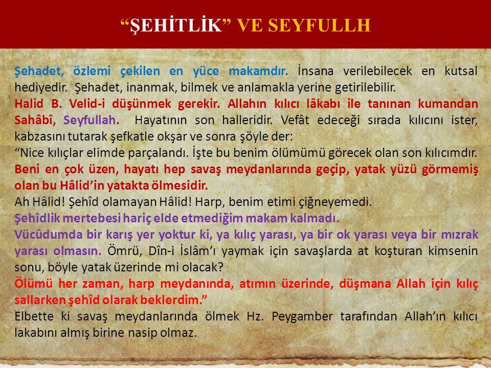 ŞEHİTLİK VE SEYFULLH