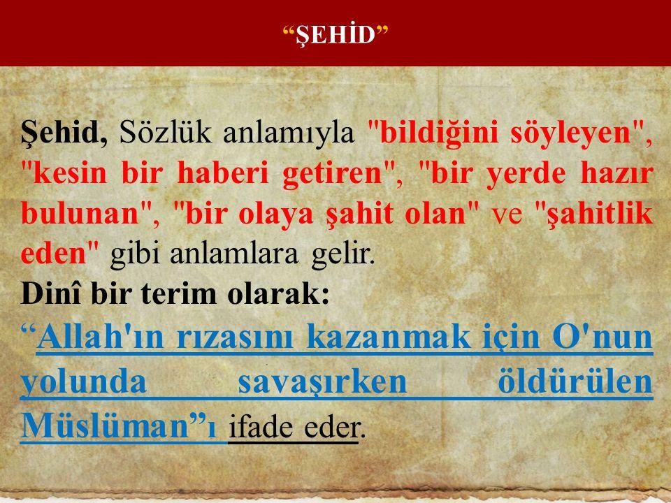 ŞEHİD